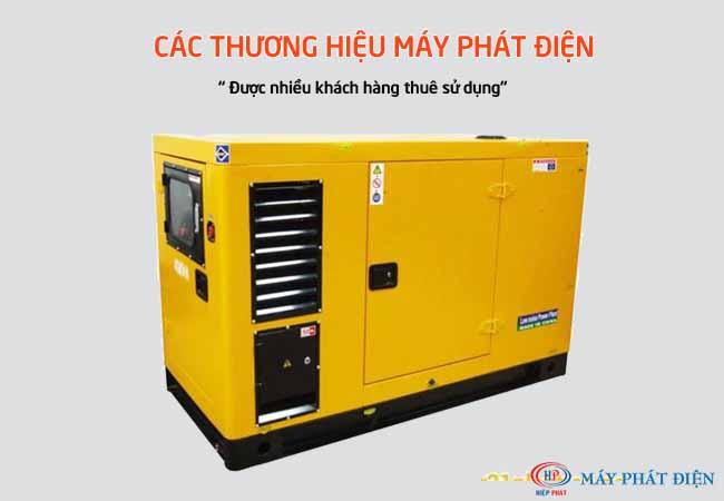 Các thương hiệu máy phát điện được khách hàng thuê nhiều