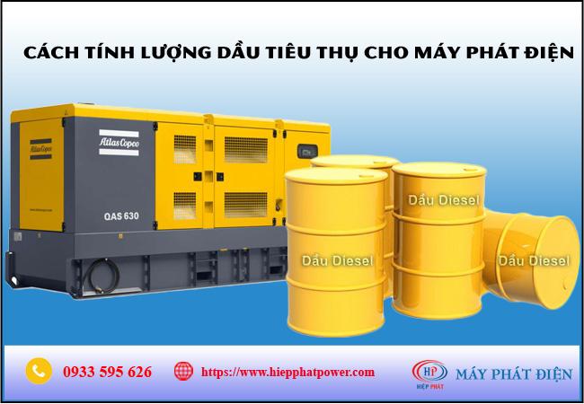 Cách tính lượng dầu tiêu thụ cho máy phát điện
