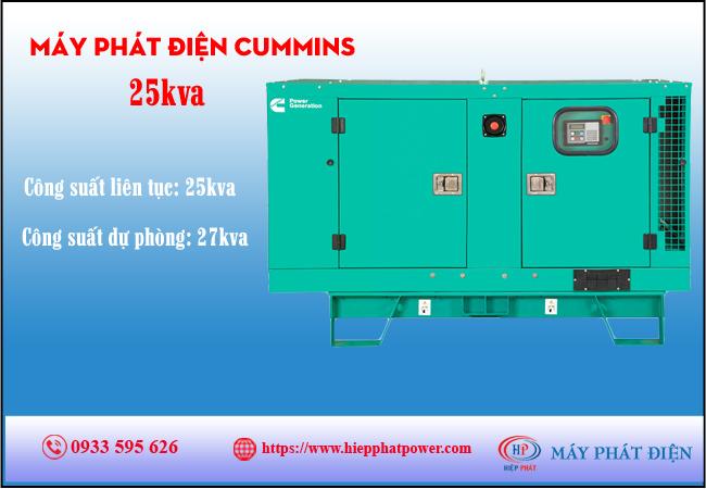 Máy phát điện Cummins 25kva