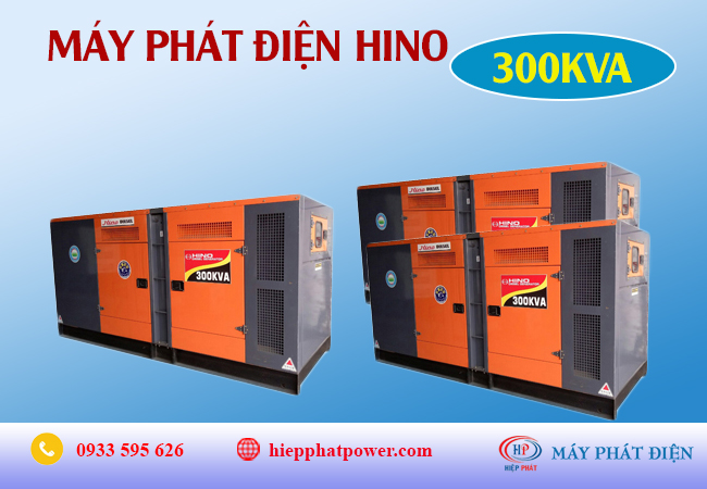 Máy phát điện Hino 300Kva