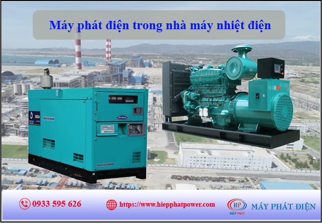Máy phát điện trong nhà máy nhiệt điện